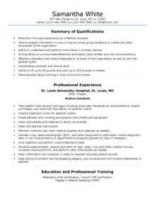 Generic Resume Skills by Healthcare Resume Free Exles Of Resumes For Assistants Generic