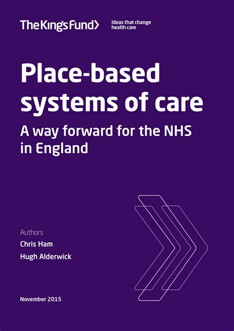 place based systems  care  kings fund