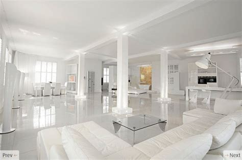 Wondrous White Three Lofts With Clean Bring Interiors by White Interior Design