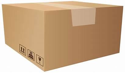 Box Clip Packaging Clipart Transparent Cardboard 1275
