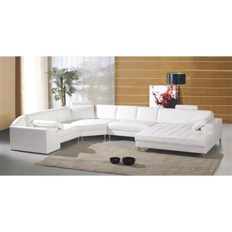 grand canape cuir grand canapé d 39 angle panoramique en cuir blanc king