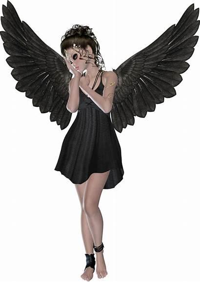 Angel Angels Clipart Transparent Dark Yopriceville Haired