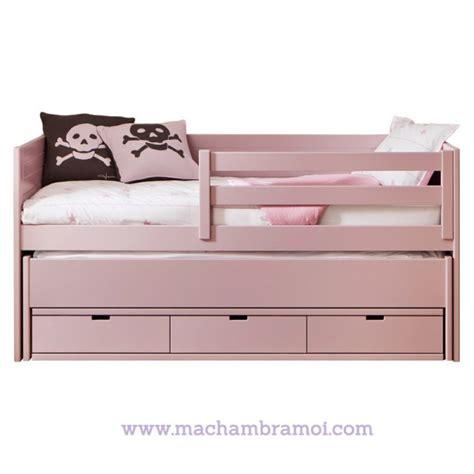 lit banquette enfant 90x200 cm 3 tiroirs et tiroir lit