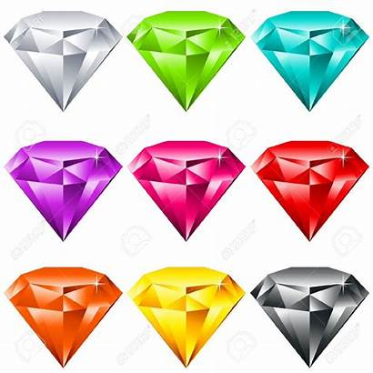 Jewels Vector Colorful Shiny Clipart Clip Gems