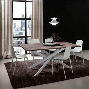 Table Salle À Manger Extensible : table de salle manger design extensible en stratifi ~ Melissatoandfro.com Idées de Décoration
