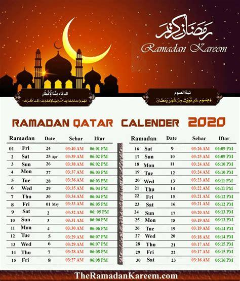 Eid Calendar 2020