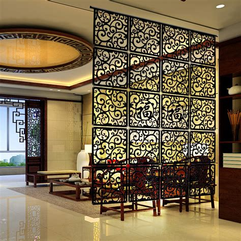 4 pieces high qulity fashion hanging screen wood partition