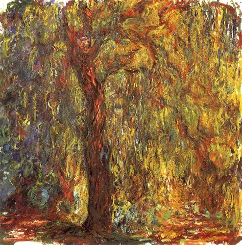 Willow Boat Painting by Weeping Willow Claude Monet Wikiart Org