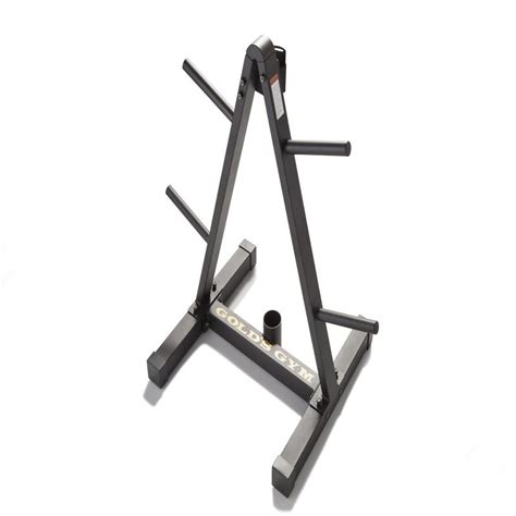 weight plate barbell storage rack standard olympic compact design golds gym  ebay