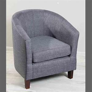 Fauteuil cabriolet en tissu gris fo dya shoppingfr for Cabriolet fauteuil