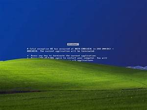 Blue Screen Of Death Microsoft Windows XP Error - WallDevil