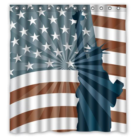 original designed american flag and statue of liberty