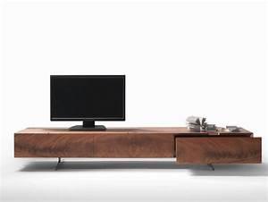 Meuble Tv Bois Design : meuble tv design 23 meubles bas pour moderniser le salon ~ Preciouscoupons.com Idées de Décoration