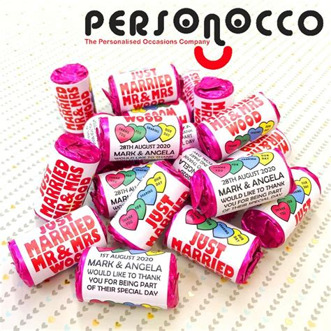 personalised mini love hearts wedding favourssweets  ebay