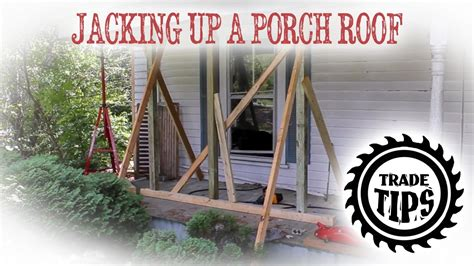 Replacing Porch Columns by Up And Support Porch Roof To Replace Porch Posts
