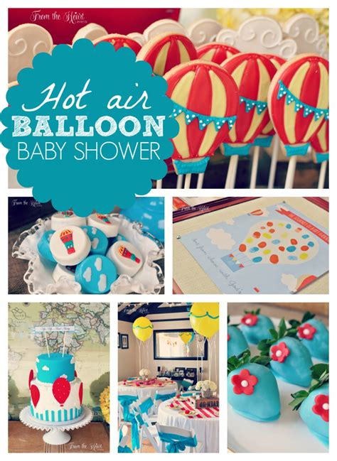 Cute Graduation Decorations by Air Balloon Baby Shower Pretty My Party