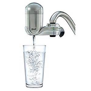 amazon com pur advanced faucet water filter stainless