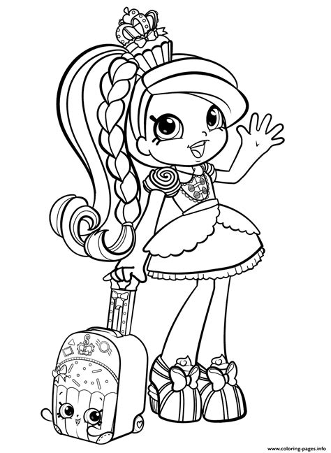 shopkins girl  world vacation season  coloring pages