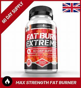Fat Burn Extreme Weight Loss Diet Pills Strongest Legal Fat Burner  60 Capsules