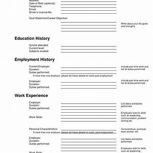 sweet ideas filling out a resume 11 sample of fill up form With resume fill up form online