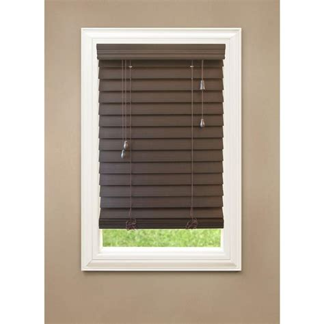 2 faux wood blinds home decorators collection espresso 2 1 2 in premium faux