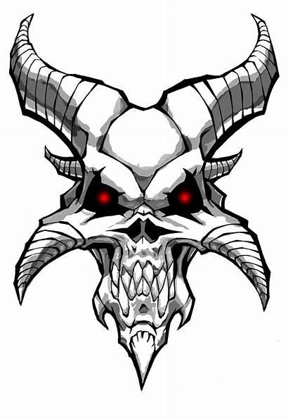 Drawings Skulls Clipart Demon Library Skull Clip