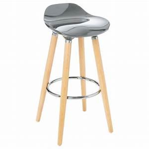 Tabouret De Bar Gris : tabouret de bar filel 80cm gris ~ Teatrodelosmanantiales.com Idées de Décoration