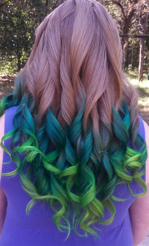 I Love This Light Brown To Dark Green To Lime Green Hair