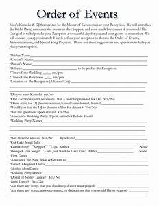 Wedding itinerary templates free wedding template for Wedding day schedule of events template