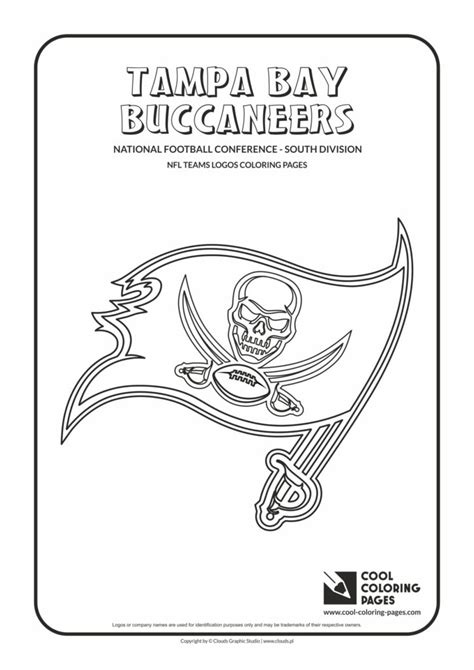 cool coloring pages tampa bay buccaneers nfl american football teams logos coloring pages