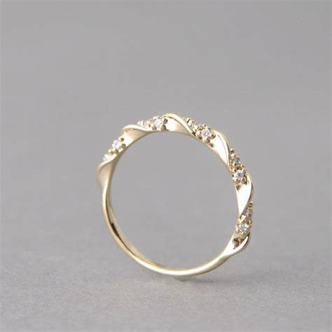cz simple elegant engagement ring gold at from