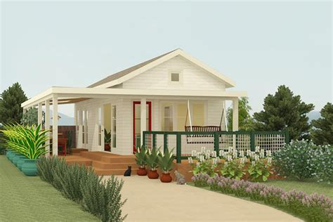 Contemporary Style House Plan 1 Beds 1 Baths 399 Sq/Ft
