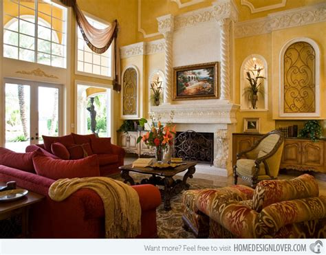 Tuscan Style Living Room Design