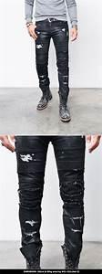 Bottoms  Jeans  Silicon Coating Hardcore Damage Biker-Jeans 250 - GUYLOOK Menu0026#39;s Trendy ...