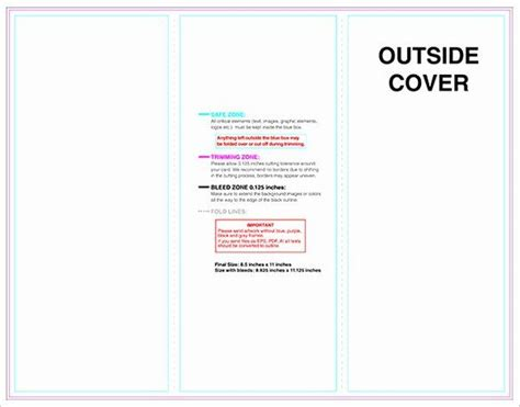 trifold brochure template unique  printable