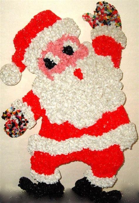 1970s rare vintage melted plastic popcorn snowman