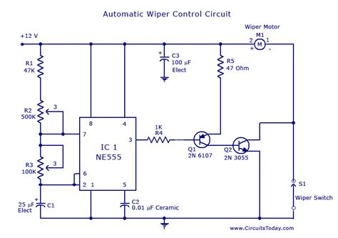 Automatic Wiper Control Circuit Using Under