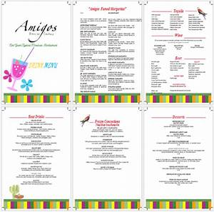 Drink menu template 5 best drink menu formats for Drink menu templates microsoft word