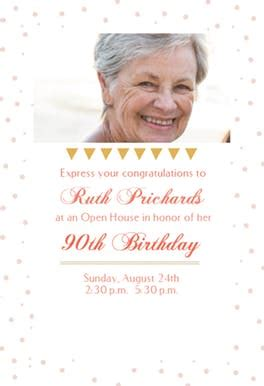 open house party  birthday invitation template