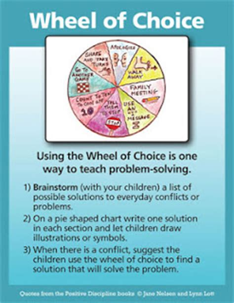 positive discipline for preschoolers pdf the wheel of choice positive discipline 601