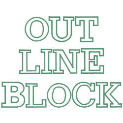 outline block  embroidery patterns home format fonts  embroiderydesignscom