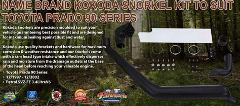 brand kokoda snorkel kit  suit toyota  series landcruiser