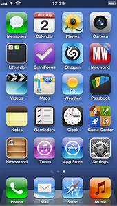 First look at the iPhone 5 Home Screen with 24 Apps ...