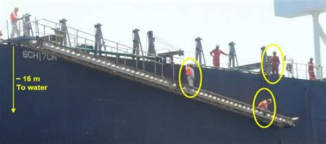 Ship Gangway by Crew Died When Fishing From Ship S Gangway