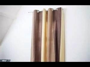 Oeillet Pour Rideau : ridorail ib tringle pour habiller votre porte avec un rideau oeillet youtube ~ Teatrodelosmanantiales.com Idées de Décoration