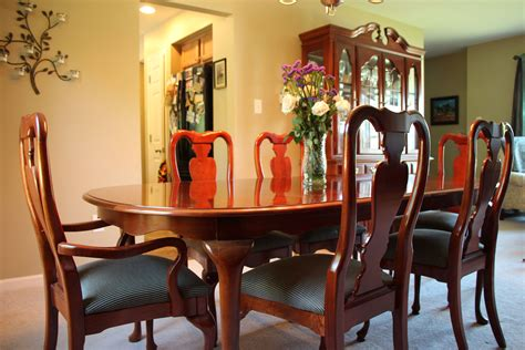 solid cherry wood american drew cherry grove  pc dining