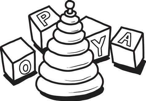 FREE Printable Christmas Toys Coloring Page for Kids #2