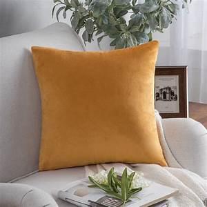 Phantoscope, Soft, Silky, Velvet, Series, Decorative, Throw, Pillow, 18, U0026quot, X, 18, U0026quot, Orange, 1, Pack