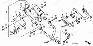 Honda Motorcycle 2007 Oem Parts Diagram For Exhaust