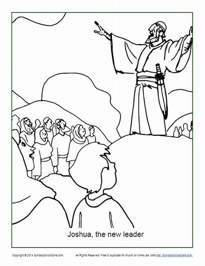 Joshua Coloring Bible Moses Leader Printable Heroes